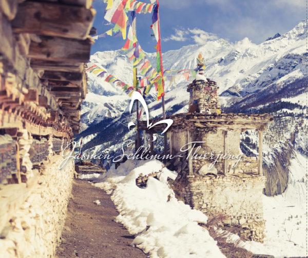 Die Kraft der Berge im Himalaya - Inlay innen