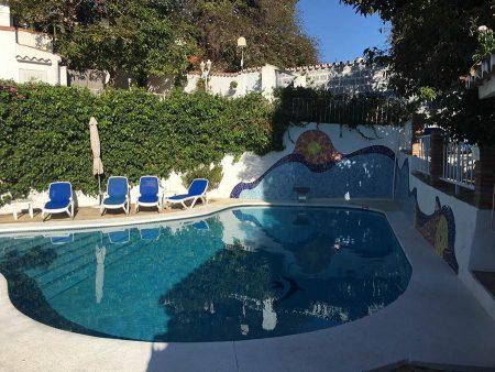 Seminarhotel Malaga Pool & Liegen