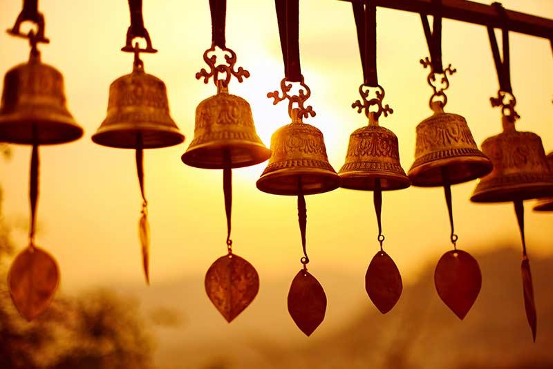 Glocken der Achtsamkeit in Nepal